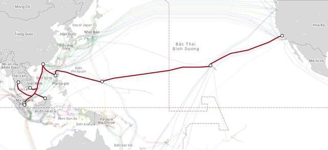Đường đi tuyến cáp quang biển AAG