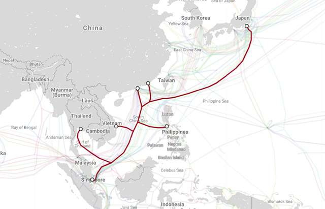 Đường đi tuyến cáp quang biển ADC